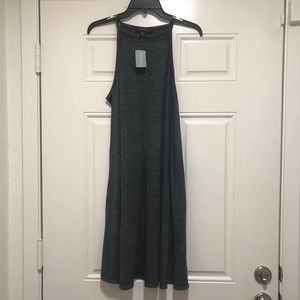 Forever 21 + High Neck Dress - Gray - Lightweight